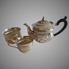 Antique English Sterling Silver Tea Set