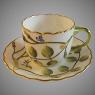 Royal Worcester Blind Earl Demitasse Cup and Saucer