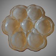 Lovely White Limoges Oyster Plate
