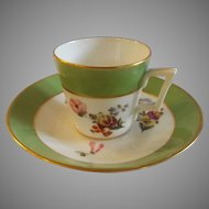 19th Century Royal Crown Derby English Demitasse Cup & Saucer