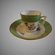 19th Century Royal Crown Derby English Demitasse Cup & Saucer