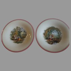 Pair of Antique English Ashworth Plates