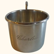 """Sterling Silver Child's  Baby Cup """"Charles"""""""