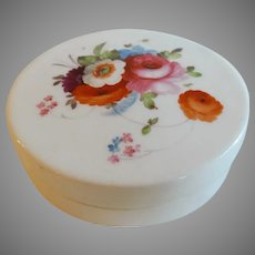Lovely Hand Painted Porcelain Trinket Box