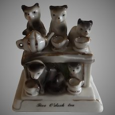 Charming Antique German Fairing with Kittens