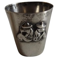 Antique Mexican Sterling Silver Shot Glass