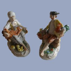 Exquisite Pair of Dresden Figurines