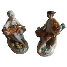 Exquisite Pair of Dresden Figurines