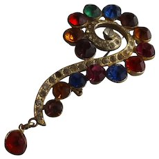 Marvelous Vintage Question Mark Costume Brooch