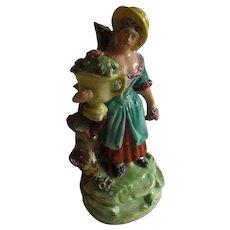 Antique English 18th Century Staffordshire Pottery Figurine