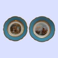 Pair of Antique Old Paris Porcelain Cabinet Plates