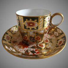 Antique English Davenport Cabinet Cup and Saucer