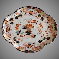 Antique English Porcelain Vanity Tray Imari Colors