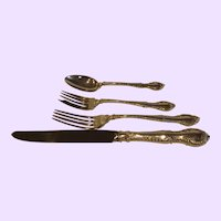 4 Piece Sterling Silver Place Setting Gorham English Gadroon