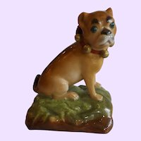 Antique French Jacob Petit Pug Dog Figurine