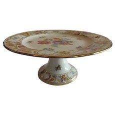 Schumann Empress Dresden Flowers Pedestal Plate