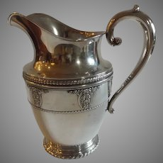 Wallace Sterling Silver Rose Point Water Pitcher