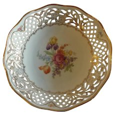 Schumann Dresden Flowers Serving Bowl with Reticulated Edge