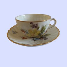 Exquisite Antique Dresden Cup and Saucer
