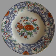"Antique English Minton Pottery D'Orsay Japan 10"" Dinner Plate"