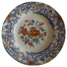"""Antique English Minton Pottery D'Orsay Japan 10"""" Dinner Plate"""