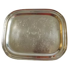 Antique French Sterling Silver Tray C. Pillet Paris