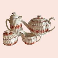 Antique Copeland Spode Valencia Orange Tea Set