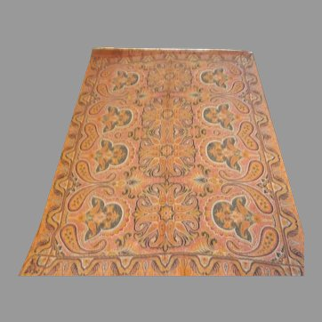 Lovely Antique 19th Century Paisley Throw Shawl