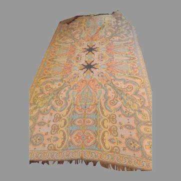 Fabulous Large Antique Wool Paisley
