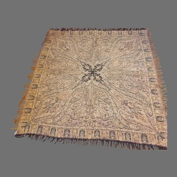 19th Century Antique Hand Woven Wool Paisley