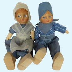 Vintage Blossom Doll Company Dutch Boy and Girl