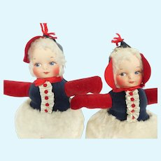 Vintage Dolly Gund Boy and Girl