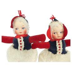 Vintage Dolly Gund Boy and Girl