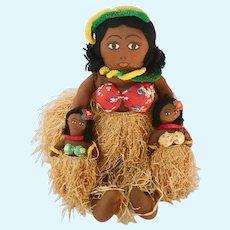 Vintage Hawaiian Hula Dancer Dolls
