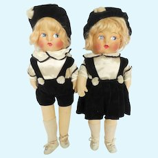 Vintage German Boy & Girl Dolls
