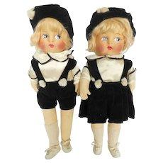 Vintage German Boy & Girl Dolls