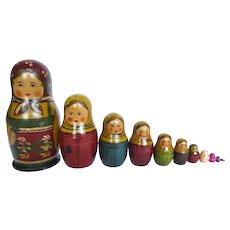 Vintage Matroyshka Dolls (12 nesting dolls)