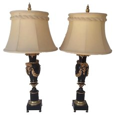 Vintage Black and Gold Table Lamps