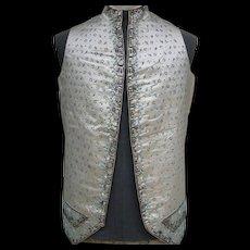 Exquisite antique 18thC Georgian silk embroidered gentleman's waistcoat