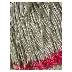 25 skeins antique French / German silver tone fine embroidery thread
