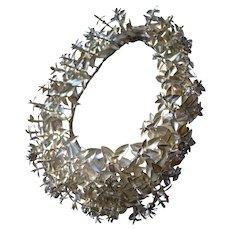 Divine antique French silver paper wedding bridal crown tiara 1870s