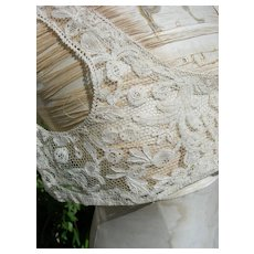 1920s hand made Brussels Duchesse lace brassiere