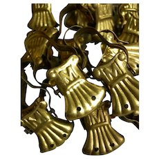 Collection 24 vintage French 1920s crocodile curtain clips for summer curtains - 1920s