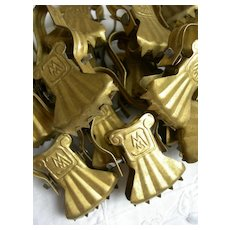 Collection 22 vintage French crocodile clips for summer curtains - 1920s