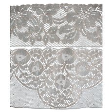 Over 20 metres 1920s vintage French unused tulle lingerie lace - 2 designs