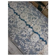 Long length 466cms antique 19th Century French hand made lace
