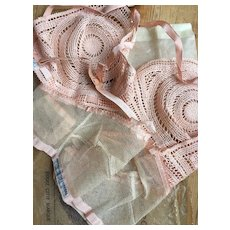 2 unused 1920s French  unused bralettes in original packets