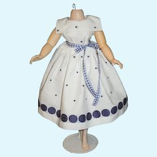 Vintage home made Madame Alexander Cissy doll cotton dress