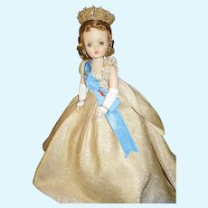 "Madame Alexander 20"" Cissy puffed sleeve Queen doll 1958"