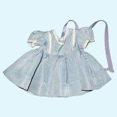 "Vintage 16"" Terri Lee doll loopy tagged dress of blue satin"